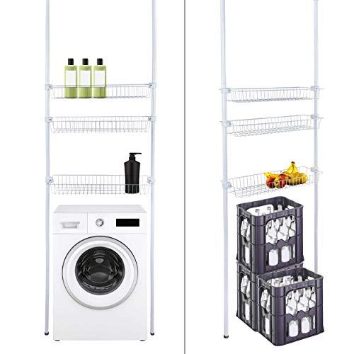 Waschmaschinen-Regal Badregal Standregal Teleskopregal Ablage Waschmaschine