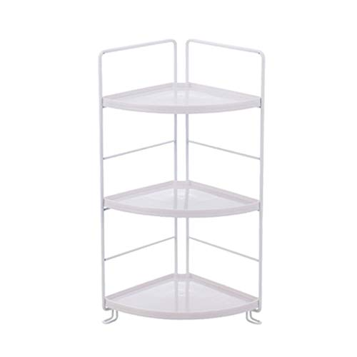 Jixi Bad Regal über WC Schmiedeeisen Rack Lagerregal Küche Bad kleinen Topf Rack 4 Layer Boden Lagerregal (Color : White, Größe : A)