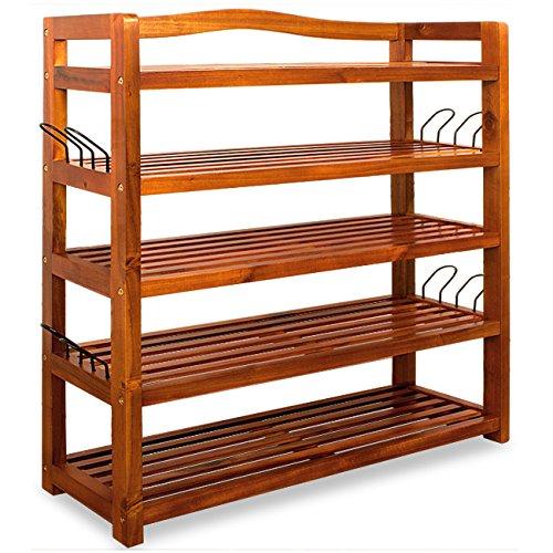 Badregal schmal - Metall - Holz