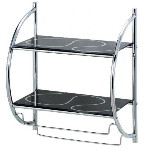 badregal schwarz dunkles badezimmerregal. Black Bedroom Furniture Sets. Home Design Ideas