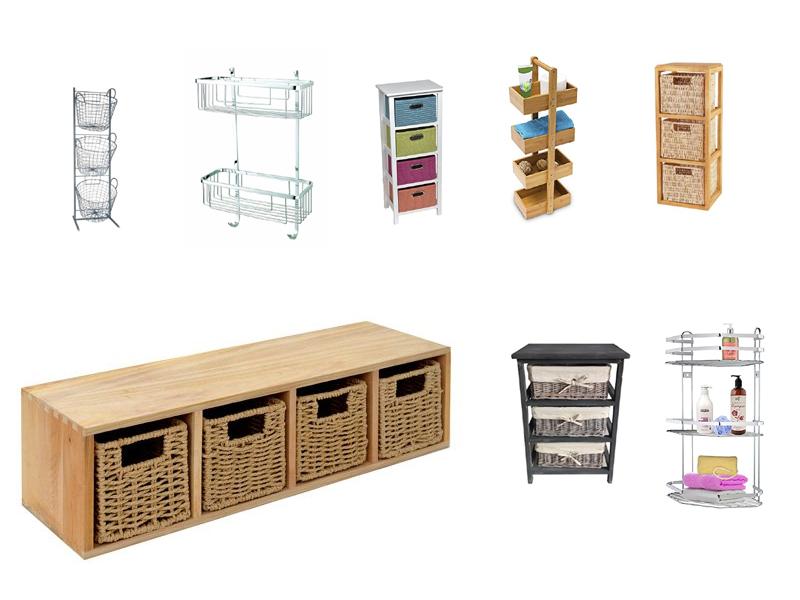 badregal mit k rben. Black Bedroom Furniture Sets. Home Design Ideas