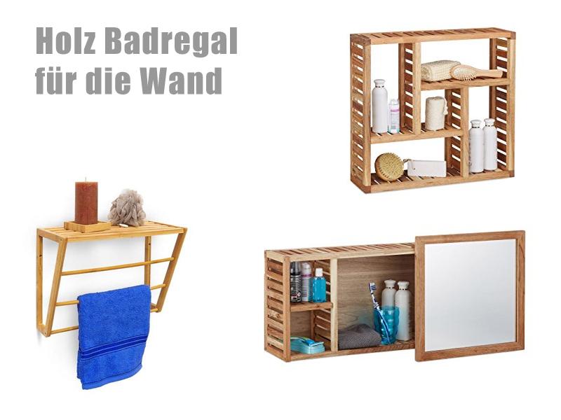 Günstiges Holz Badregal